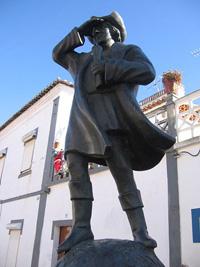 Statue de Colomb à Cuba do Alentejo