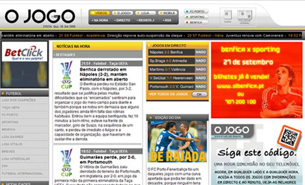 Les journaux quotidiens sportifs : O Jogo, Record et A Bola