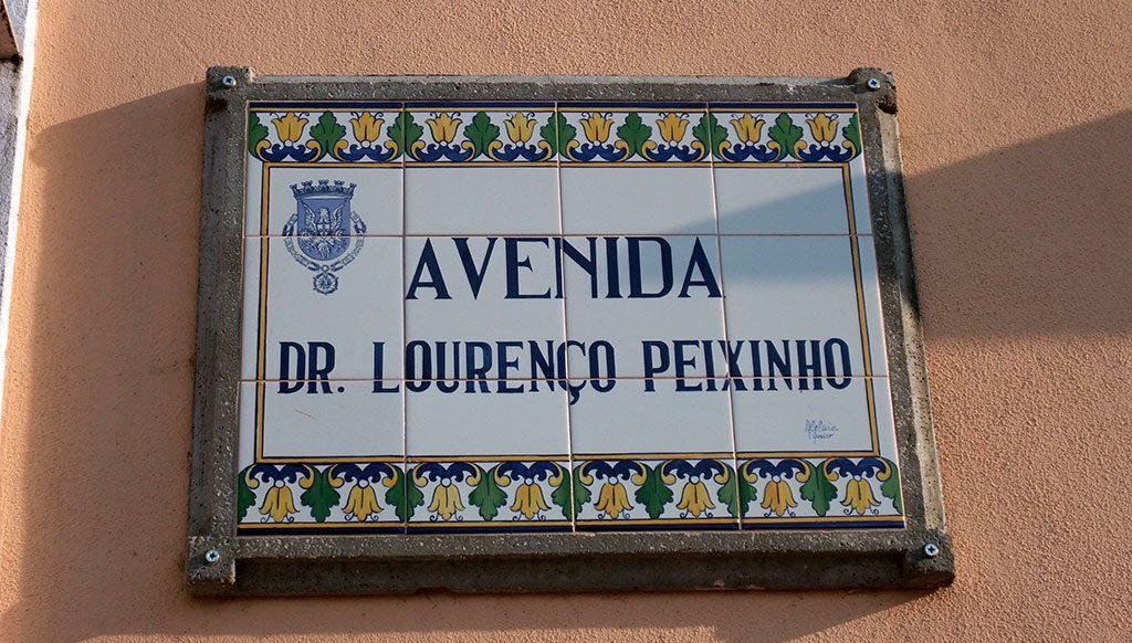 Plaque de rue en azulejos, Aveiro