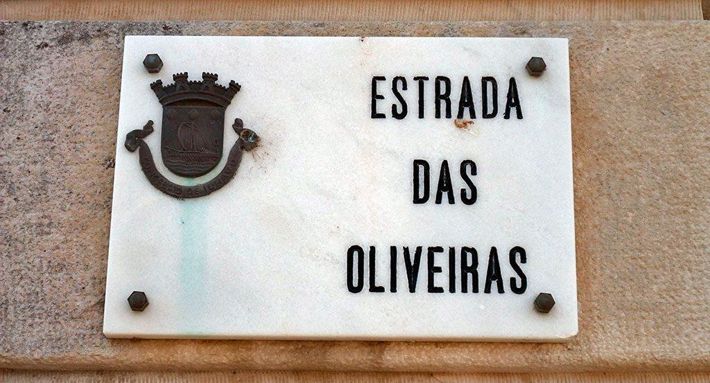 Plaque de rue en marbre, Ilhavo