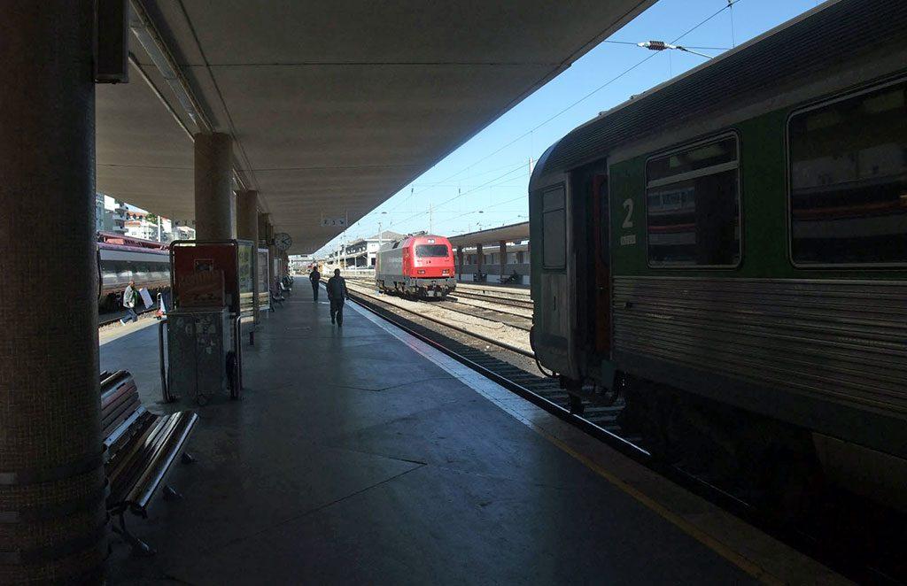 Trains à l'arrivée