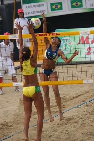 Joueuses de beach-volley brésiliennes