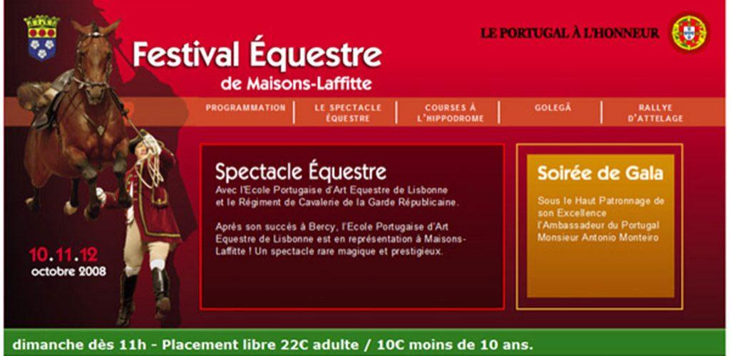 Festival d'équitation portugaise à Maisons-Laffitte
