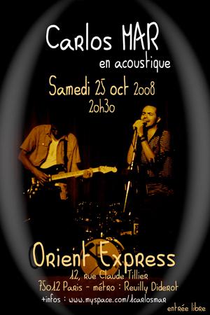 Affiche du concert à l'Orient Express