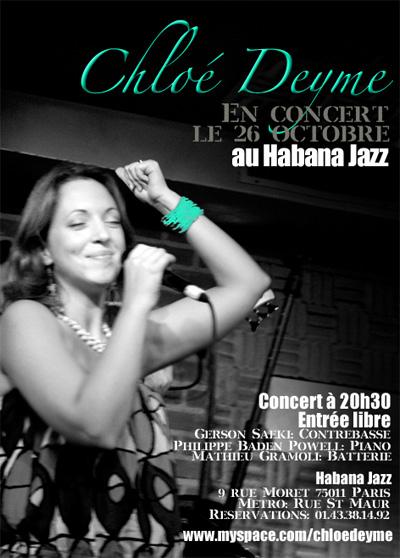 Chloé Deyme au Habana Jazz
