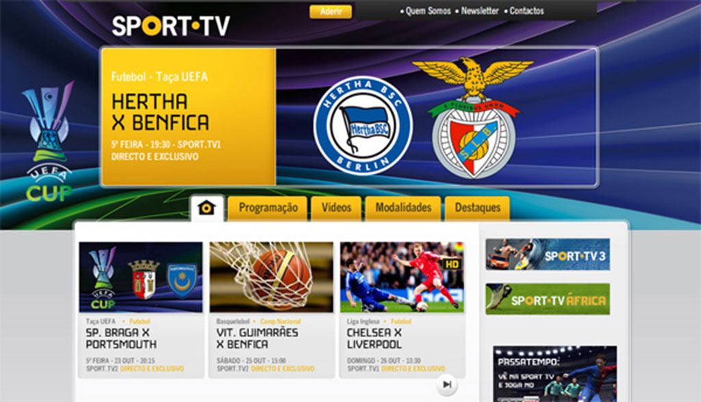 sport tv retransmet le match hertha berlin benfica. Black Bedroom Furniture Sets. Home Design Ideas
