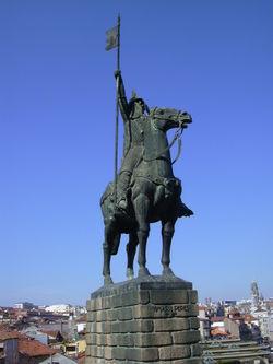 Statue de Vimara Peres à Porto. Source : wikipedia