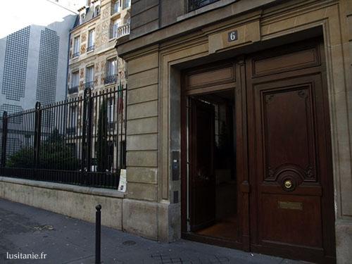Entrée du Consulat du Portugal à Paris
