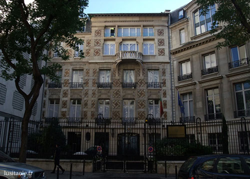 Consulat du Portugal, rue Georges Berger à Paris