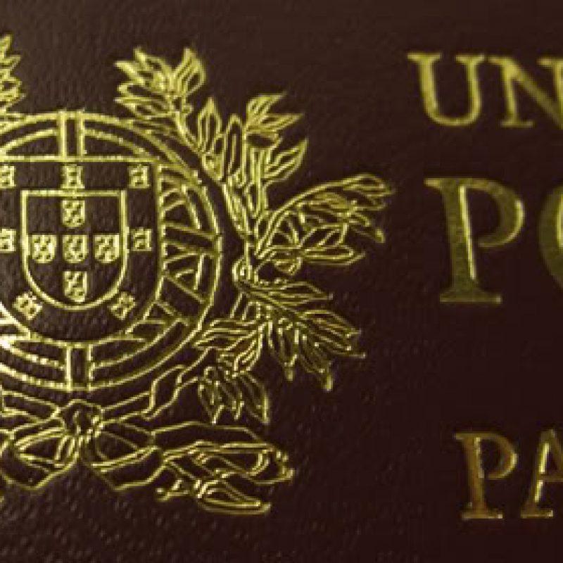 Détail de la couverture du passeport