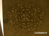 Emblème du Portugal en filigrane