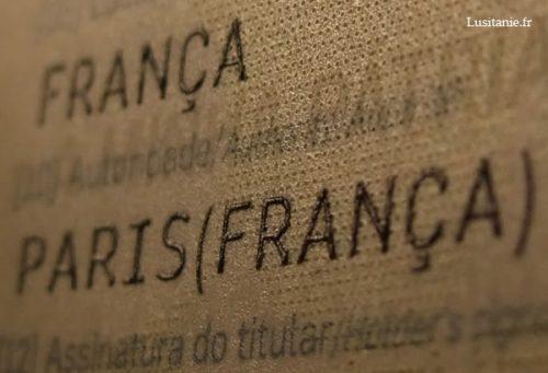 On distingue la célebre phrase de Pessoa : a minha pátria é a lingua portuguesa