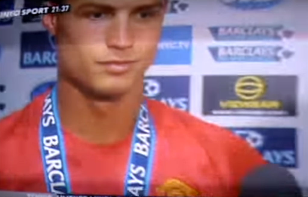Cristiano Ronaldo parle français !