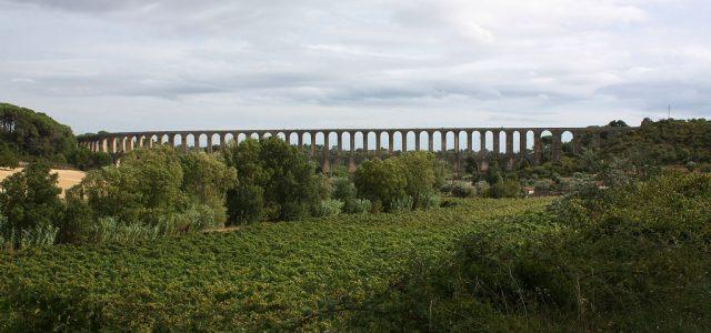 Aqueduc des Pegões, Tomar : paysages du Ribatejo
