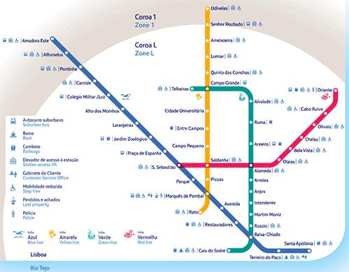 mapa de metro de lisboa portugal Metro de Lisboa mapa de metro de lisboa portugal