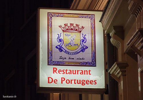 Enseigne du resto portugais