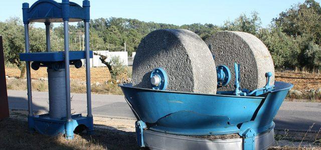 meules du moulin à huile