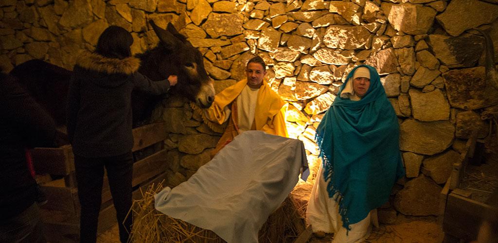 Crèche de Noël vivante de Priscos