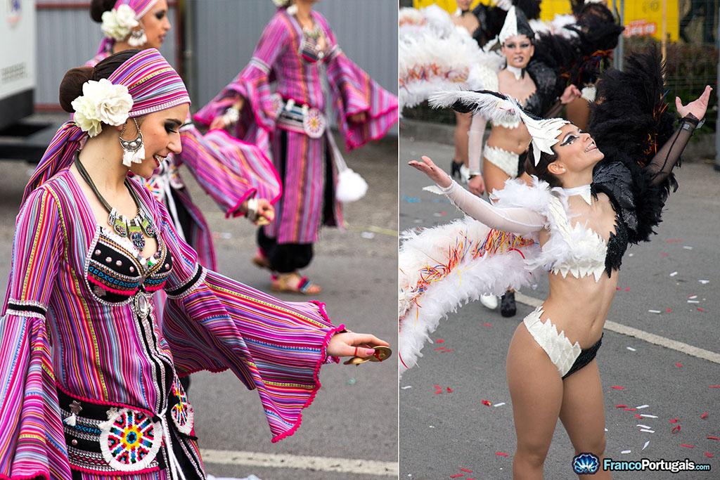 différents déguisements de Carnaval