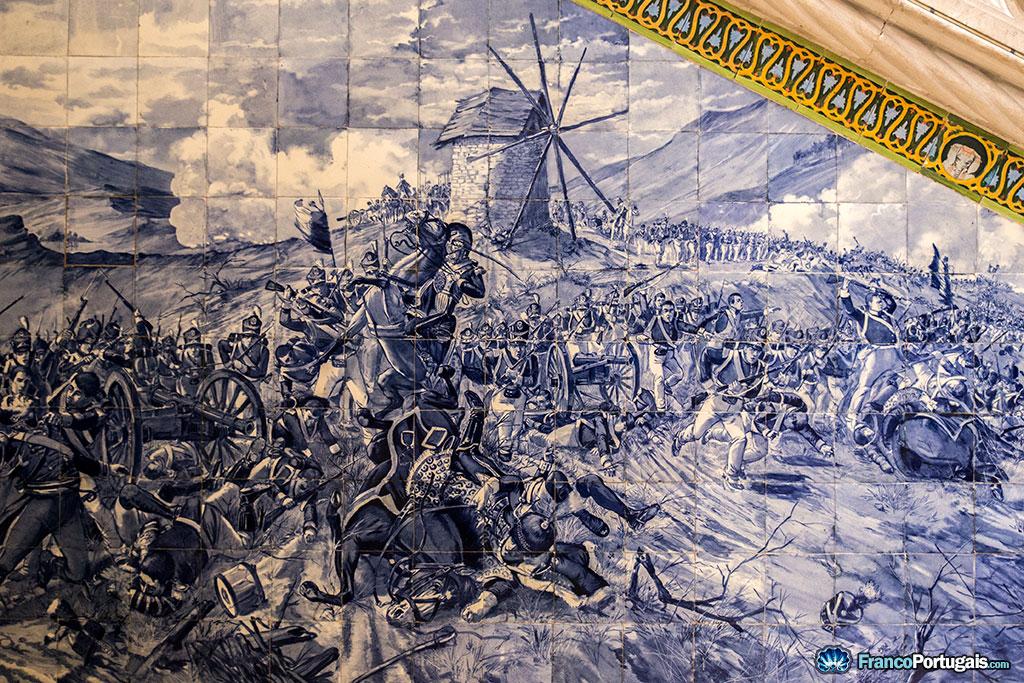 azulejos représentant la bataille de buçaco