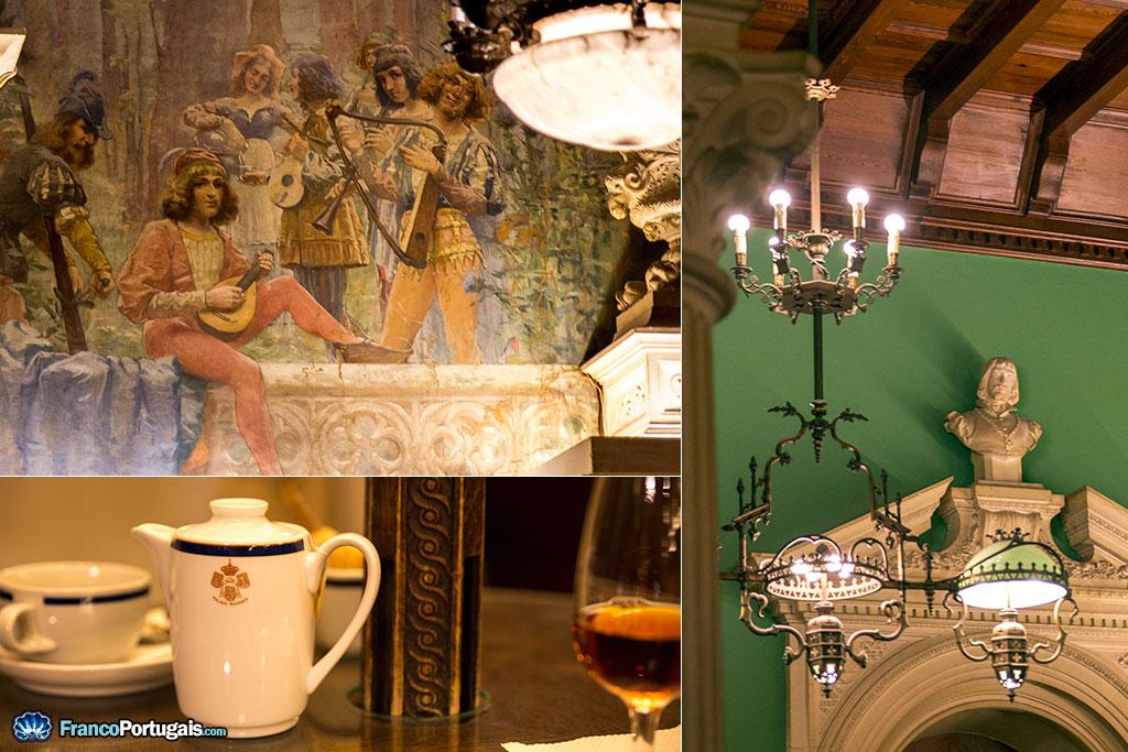 Les choix décoratifs rappellent le Moyen Âge, avec ses ménestrels et troubadours...