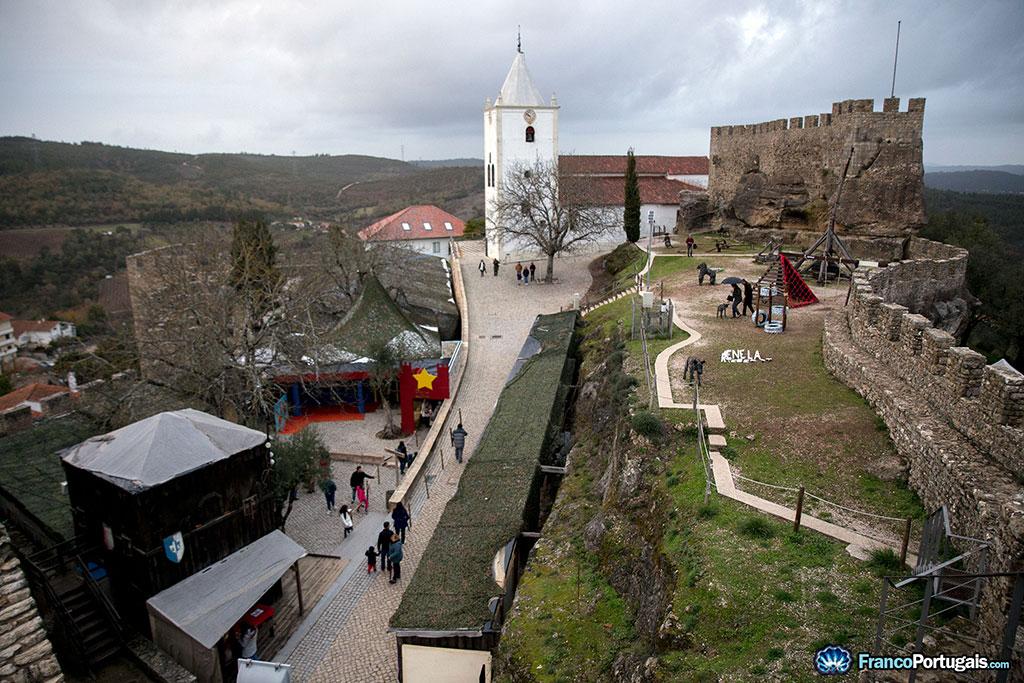 vue générale sur le château de penela