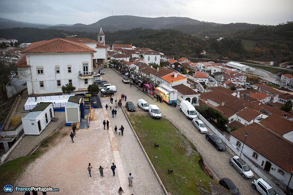 Ville de Penela vue du château