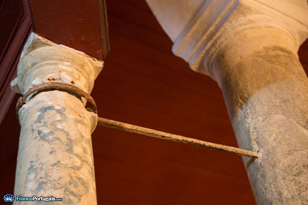 colonnes de l'église