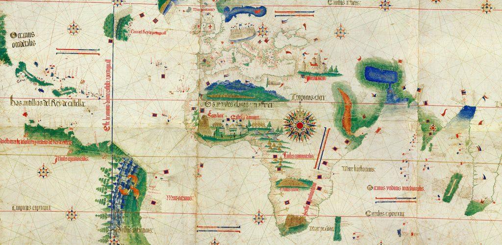 Carte de Cantino, représentant les découvertes portugaises