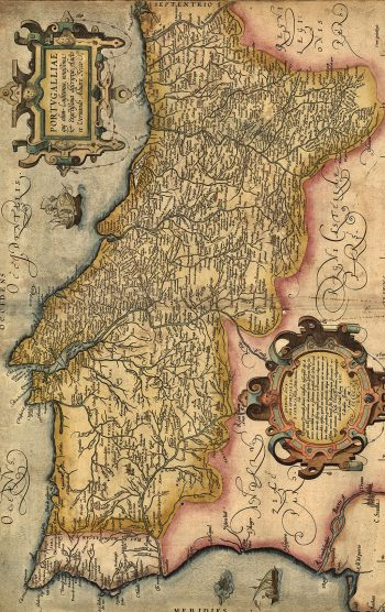 Ancienne carte du Portugal