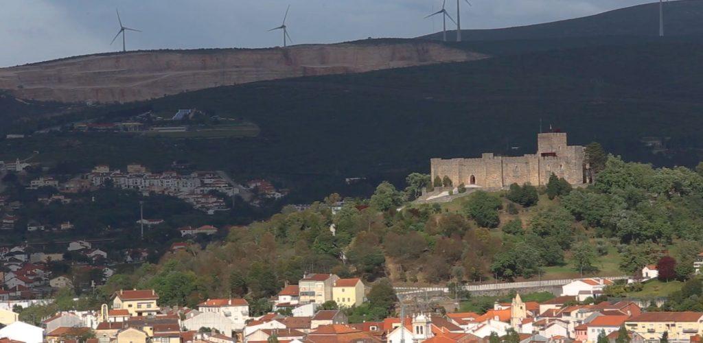 Vue panoramique sur Pombal et son château