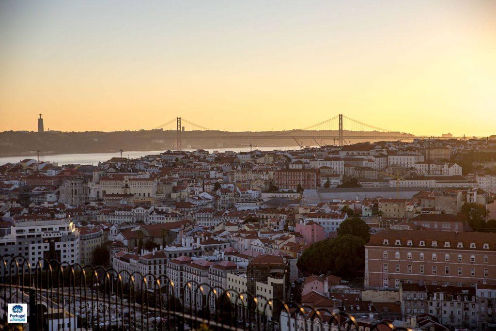 Lisbonne, vue sur le pont 25 avril