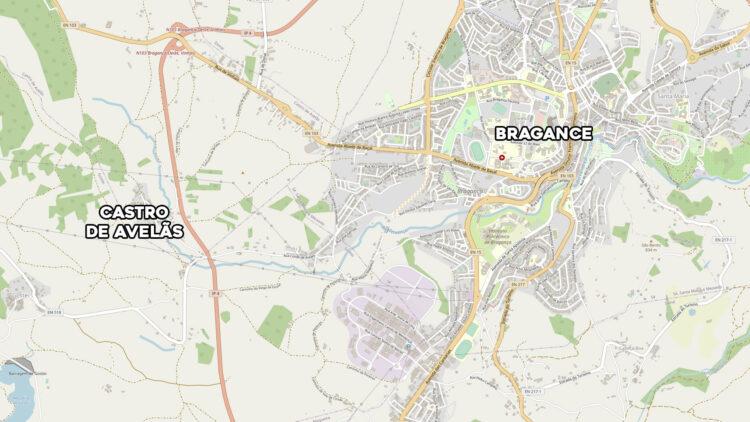 Situation géographique de Castro de Avelãs